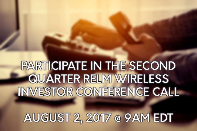 RELM Investor Conference Call